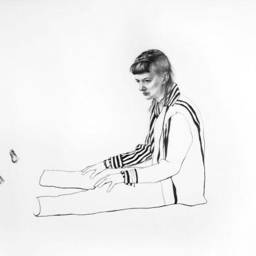 "As Yet Untitled - graphite on mylar - 18"" x 24"""